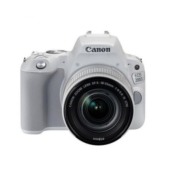 CANON Digital EOS 200D  white with lens 18-55mm