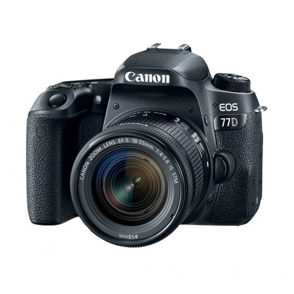 CANON Digital EOS 77D with lens 18-55mm