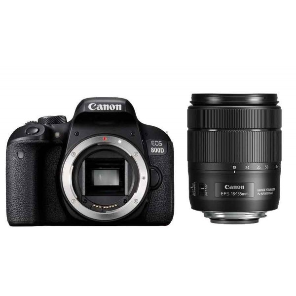 CANON Digital EOS 800D with lens 18-135mm