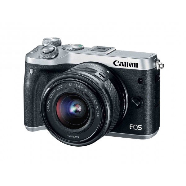 CANON EOS M6 Silver with EF-M15-45mm