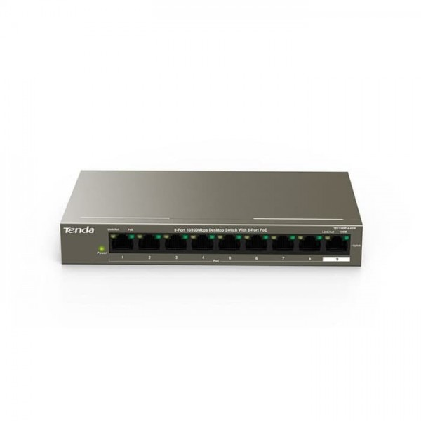 TENDA 9-Port 10/100Mbps Desktop Switch with 8-Port PoE [TEF1109P]