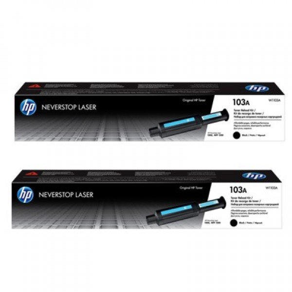 HP 103AD 2Pack Blk Toner Reload Kit [W1103AD]