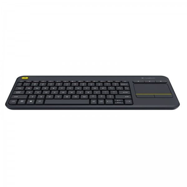 LOGITECH K 400 Plus Wireless Touch Keyboard - Black