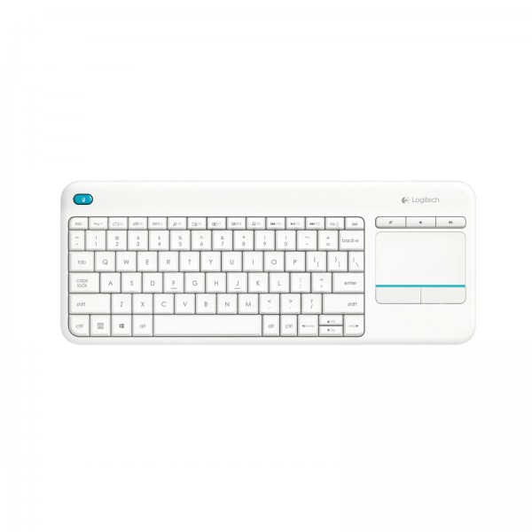 LOGITECH K 400 Plus Wireless Touch Keyboard - White