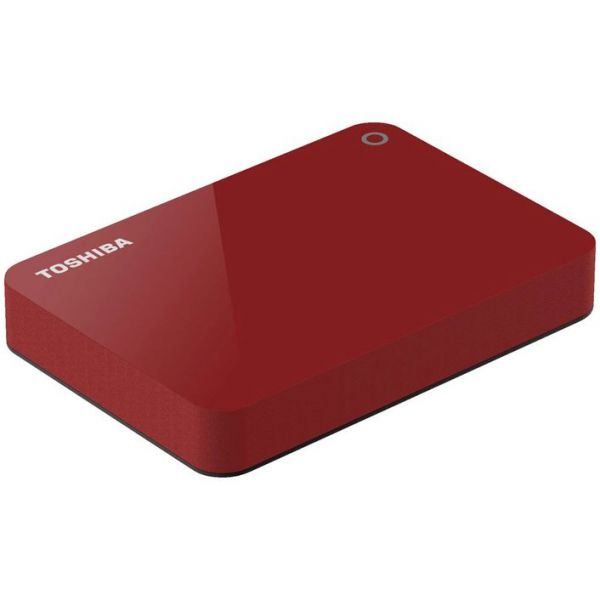 TOSHIBA Canvio Advance 3.0 Portable Hard Drive 1TB (Red)
