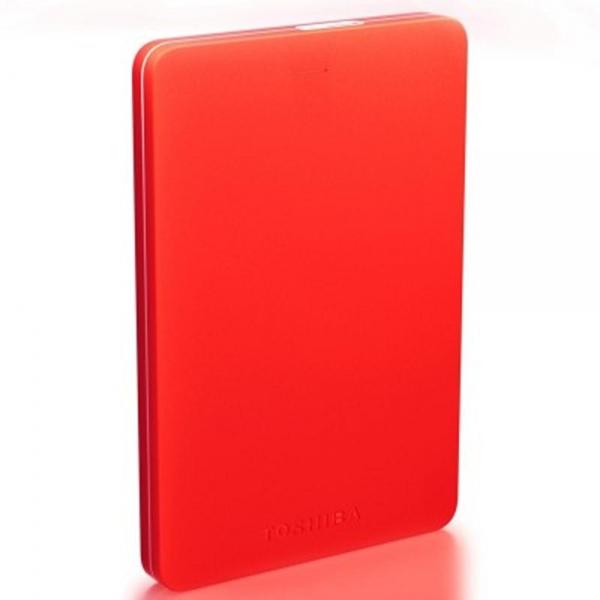 TOSHIBA Canvio Alumy Portable Hard Drive 1TB (Red)
