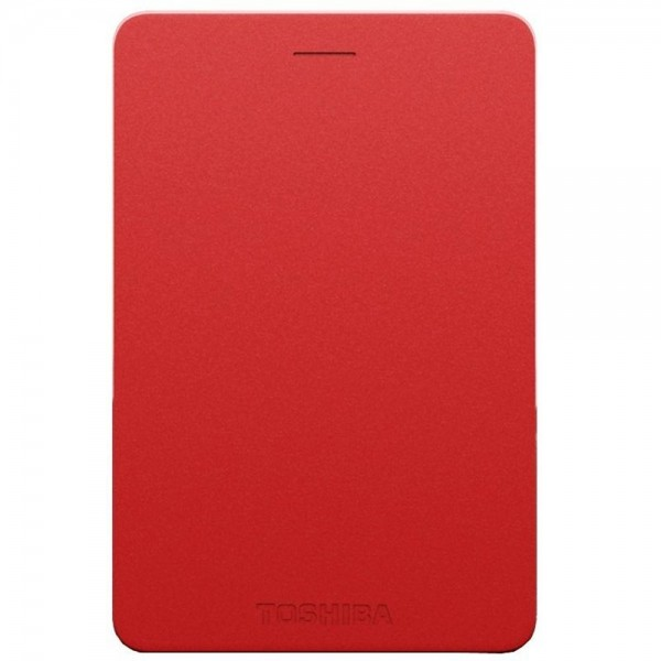 TOSHIBA Canvio Alumy Portable Hard Drive 2TB (Red)